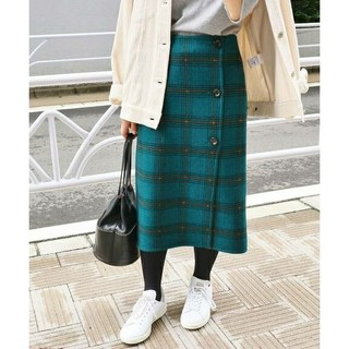 IENA - イエナ Wフェイスリバーシブルミッドカーフスカート