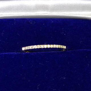 新品❗️華奢で可愛い!k18 ダイヤモンドエタニティリング(リング(指輪))