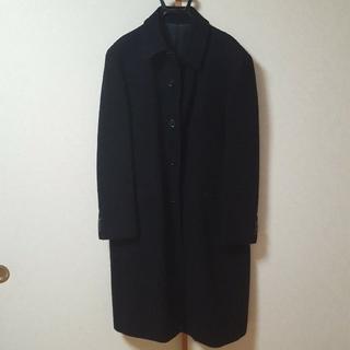 コムサメン(COMME CA MEN)のCOMME_CA_MEN(コムサメン)ロング丈コート黒サイズ2(ステンカラーコート)