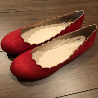 アシナガオジサン(あしながおじさん)の新品 バイアシナガオジサン 靴 赤 24(ハイヒール/パンプス)