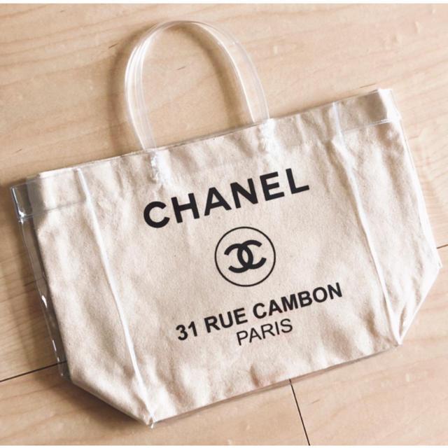 CHANEL(シャネル)のビニールバッグ キャンバストート サマーバッグ マザーズバッグ  クリアトート レディースのバッグ(トートバッグ)の商品写真