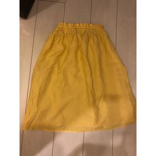 フィールドドリーム(field/dream)のオンワード樫山  Field Dream  黄色い スカート(ひざ丈スカート)