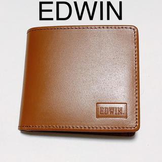 EDWIN - 折り財布 折りたたみ財布 二つ折り財布 ブラウン