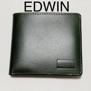 EDWIN - 折り財布 折りたたみ財布 二つ折り財布 グリーン