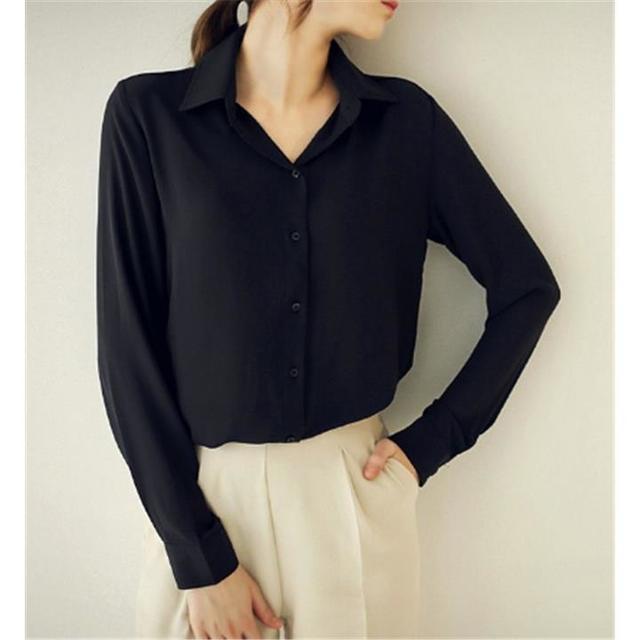 シャツ 長袖 フォーマル フォーマルシャツ ブラック レディースのトップス(シャツ/ブラウス(半袖/袖なし))の商品写真