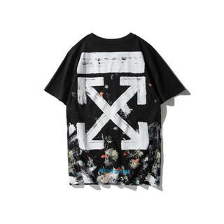 OFF-WHITE - off white  オフホワイト Tシャツ 半袖 サイズXL 花火