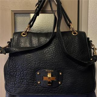 miumiu - 美品 miumiu 約20万円 大型2way本革バッグ