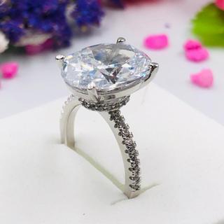11号クリスタルホワイトCZダイヤモンドs925リング(リング(指輪))