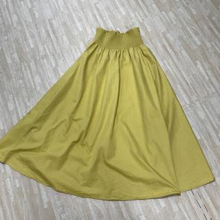 GU - 《GU》フレアロングスカート イエロー Mサイズ