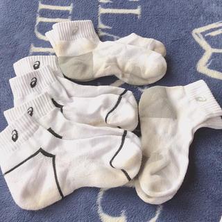 アシックス(asics)のスポーツメーカーソックス4足アシックスasics23~25cm(靴下/タイツ)