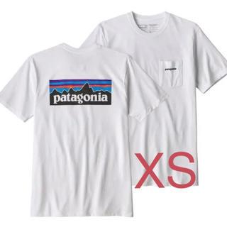 patagonia - 新品パタゴニアロゴポケットtシャツXSホワイト