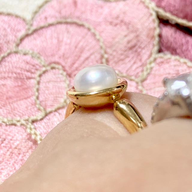 MARGARET HOWELL(マーガレットハウエル)のマーガレットハウエル k18 パール リング レディースのアクセサリー(リング(指輪))の商品写真