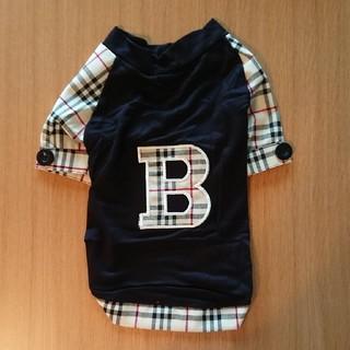犬服 Bチェックシャツ Lサイズ ブラック