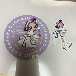 コウダンシャ(講談社)のおジャ魔女どれみカフェ おんぷちゃんコースター(ノベルティグッズ)