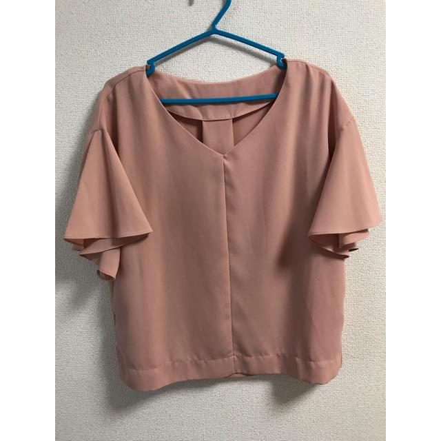 GU(ジーユー)のくすみピンク ブラウス レディースのトップス(シャツ/ブラウス(半袖/袖なし))の商品写真