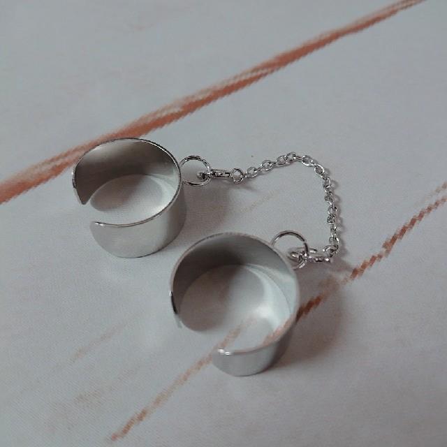 2連リング フリーサイズリング メンズのアクセサリー(リング(指輪))の商品写真