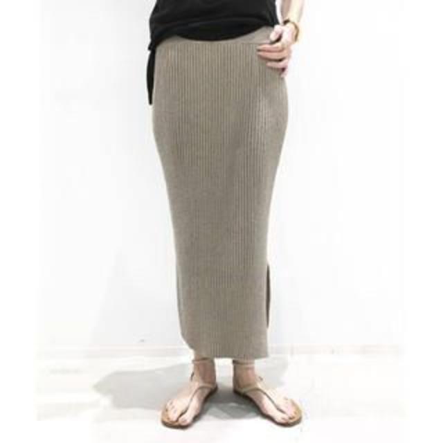 L'Appartement DEUXIEME CLASSE(アパルトモンドゥーズィエムクラス)のアパルトモン☆Boucle スカート☆リブニットスカート レディースのスカート(その他)の商品写真
