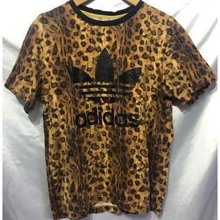 アディダス(adidas)のadidasOriginals レオパード ロゴ 半袖Tシャツ アディダス(Tシャツ/カットソー(半袖/袖なし))