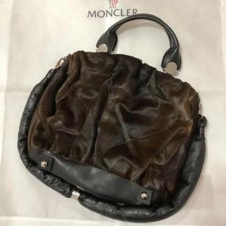 モンクレール(MONCLER)のMONCLER 確実正規品 2way ハラコレザー ショルダーバッグ(ショルダーバッグ)