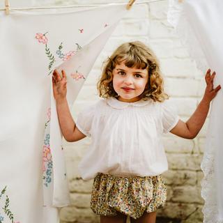 キャラメルベビー&チャイルド(Caramel baby&child )のLittle  Cotton Clothes 19SS 花柄ブルマ おむつカバー(パンツ)