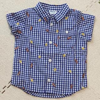 ブリーズ(BREEZE)の【新品未使用】ブリーズ ギンガムチェックシャツ 90センチ(ブラウス)