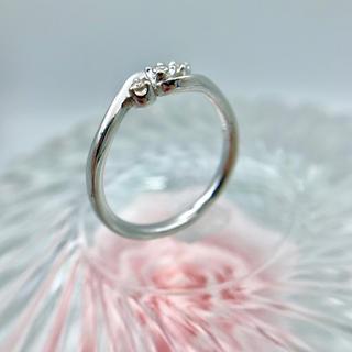 ヨンドシー(4℃)のK18WG ダイヤ付リング 4℃ 約11.5号 19-5763(リング(指輪))