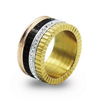 キャトルリング 指輪 ピンクゴールド ゴールド フルエタニティ ステンレス(リング(指輪))
