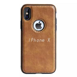 iPhoneX レザーケース  ブラウン おしゃれ シンプル iPhoneケース