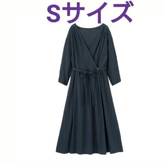 GU - GU ジーユー カシュクールガウン ワンピース チュニック 新品 ネイビー 紺
