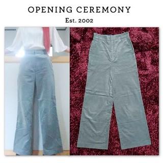 オープニングセレモニー(OPENING CEREMONY)のopening ceremony ベロア ワイドパンツ ライトブルー S(カジュアルパンツ)