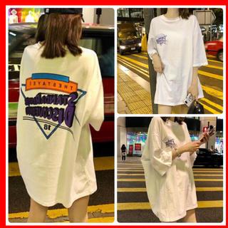 【新品】オーバーサイズ バックプリント ロゴTシャツ 白(Tシャツ(半袖/袖なし))