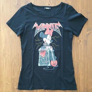 ディズニー(Disney)のTDS購入★D24 ミニーマウス ロックTシャツ ギター&アンプ★ Lサイズ黒(Tシャツ(半袖/袖なし))