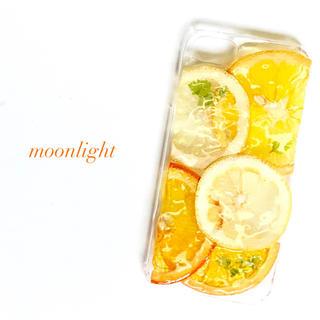 押しフルーツ スマホケース  オレンジ レモン
