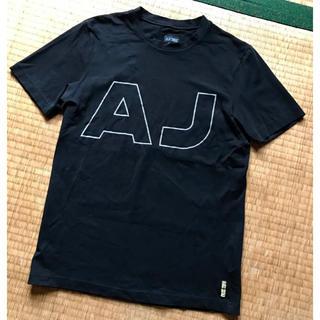 ARMANI JEANS - アルマーニ ARMANI JEANS☆ブラック Tシャツ