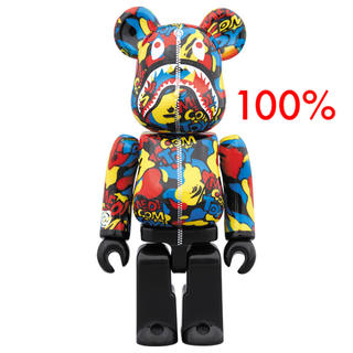 MEDICOM TOY - 100% CAMO SHARK BE@RBRICK