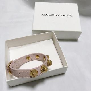 バレンシアガ(Balenciaga)のBALENCIAGA バレンシアガ スタッズ ブレスレット ピンク 美品(ブレスレット/バングル)