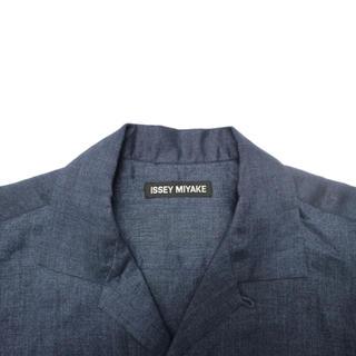 ISSEY MIYAKE - ISSEY MIYAKE Linen open collar shirt