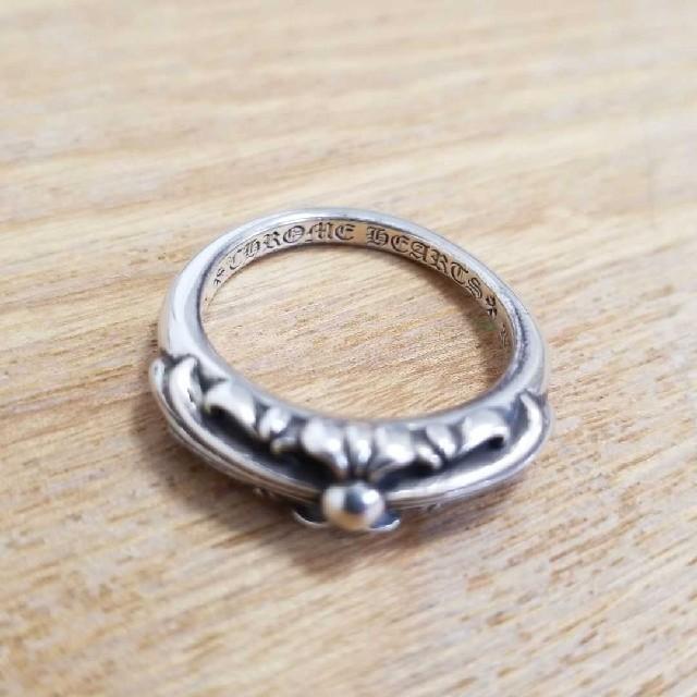 Chrome Hearts(クロムハーツ)のクロムハーツ ベビー クラシック フローラル クロス リング 19号 付属品付 メンズのアクセサリー(リング(指輪))の商品写真