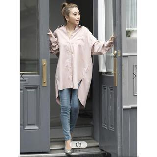 eimy istoire - eimy istoire  スタッズポイントビックシルエットシャツ ピンク
