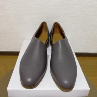 A de Vivreアシンメトリシューズ新品未使用本革(ローファー/革靴)