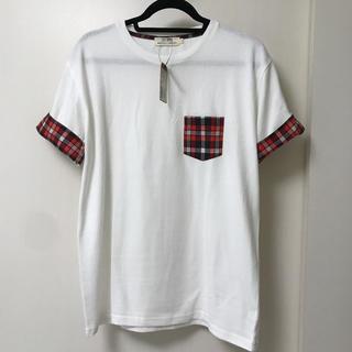 袖チェック Tシャツ 新品