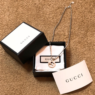 Gucci - 【美品】GUCCI グッチ ネックレス インターロッキングG 確実正規品