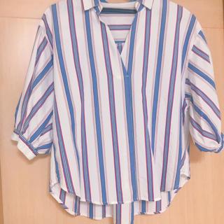 ViS - Vis ストライプシャツ レディース ブルー ホワイト