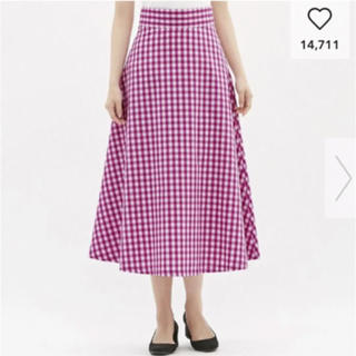 GU - gu ギンガム ロングスカート