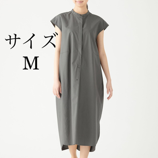 MUJI (無印良品) - 【今期新作】新疆綿ブロードフレンチスリーブワンピース 2019 新品ー