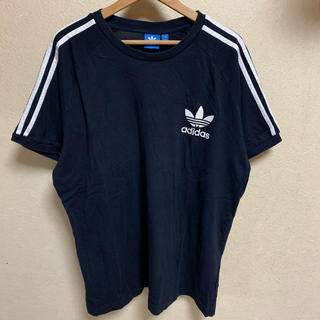 adidas originals 半袖 Tシャツ ブラック ホワイト ロゴ 白黒