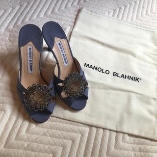 マノロブラニク(MANOLO BLAHNIK)の未使用マノロブラニク サンダル(ミュール)