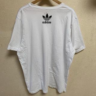 adidas - adidas ビックシルエット 半袖 Tシャツ 白 黒 ロゴ ブラック ホワイト