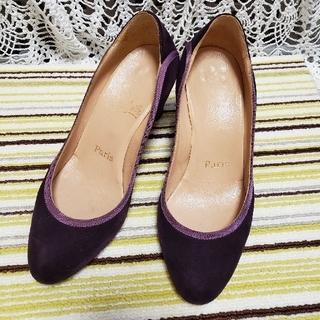 Christian Louboutin - ルブタン 美品 靴 パンプス 36.5  23~23.5 濃パープル