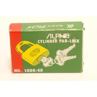 ALPHA 1000-40 南京錠 1個